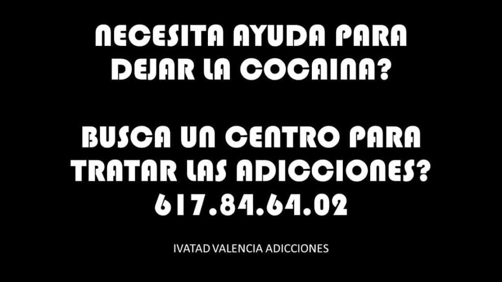 DEJAR LA COCAINA VALENCIA AYUDA