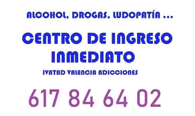 CENTRO INGRESO ALCOHOL Y DROGAS EN VALENCIA