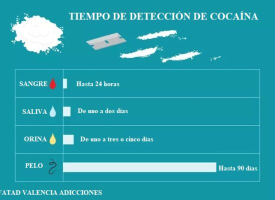 tiempo detección cocaína
