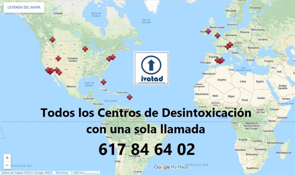 Centro desintoxicación mapa.